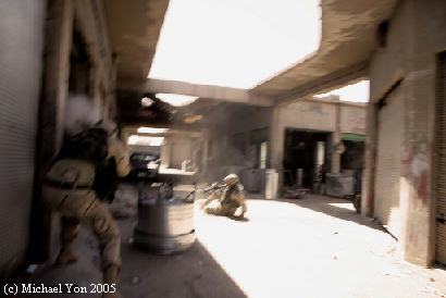 One in a series of photographs taken by Michael Yon while on patrol with Deuce Four, in 2005.